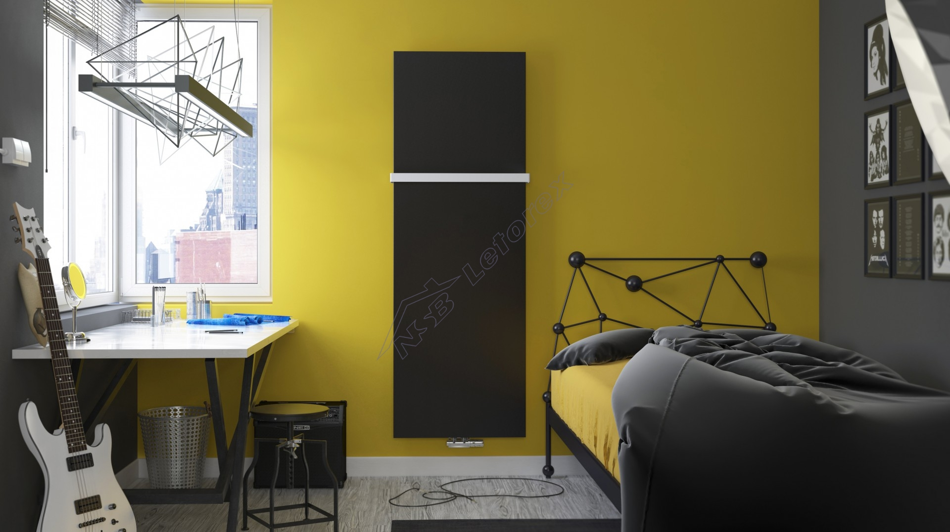 Terma Case Slim Grafika Grzejnik Dekoracyjny 1810x620 762 W